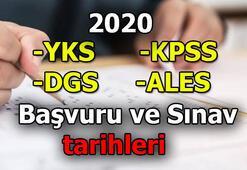 2020 ÖSYM sınav takvimi - YKS, KPSS, DGS, ALES sınav tarihleri - başvuru tarihleri
