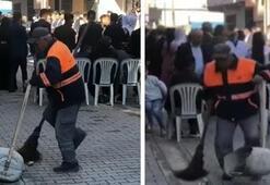 Mersinde sokağı halay çekerek temizleyen işçiye bir maaş ikramiye verildi