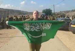 İsrail askeri Suudi Arabistan bayrağı açtı