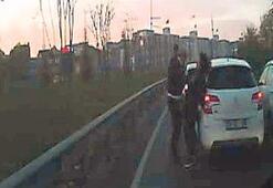 Kadın sürücüyü  döven tutuklandı