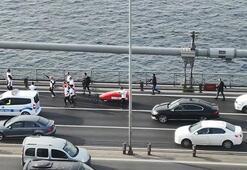 Rosie Swale Pope, 15 Temmuz Şehitler Köprüsünden geçti