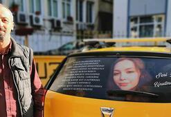 Takside yazanları gören gözyaşlarını tutamıyor