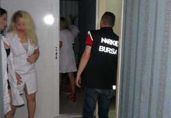 Bursada polis ekipleri masaj salonlarını denetledi