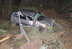 Ereğlide otomobil dereye uçtu: 3 yaralı