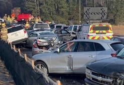 60 araç birbirine girdi, en az 50 kişi yaralandı