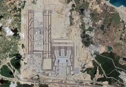 Yeni Havalimanının yeni pisti uydu görüntülerine yansıdı