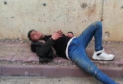 Polisten kaçarken duvardan düştü