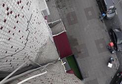 Sultangazide 6. kattan düşen hırsızlık şüphelisi yaralandı