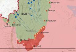Şam rejimi İdlibde ilerliyor 40 yerleşimi ele geçirdiler