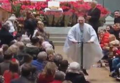 Rahip kiliseyi scooterıyla terk etti