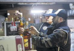 Yılbaşı öncesi operasyon 10 bin 404 şişe sahte içki yakalandı