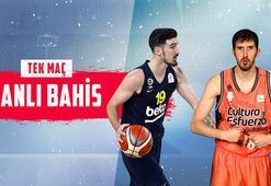 Fenerbahçe - Valencia Basket canlı bahis heyecanı Misli.comda