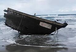 Cesetlerin bulunduğu tekne sahile vurdu