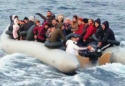 Kuşadasında lastik botta 31 kaçak göçmen yakalandı