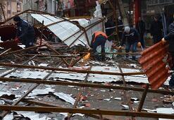 Çanakkalede fırtına çatıyı uçurdu İstanbulda fırtına bekleniyor