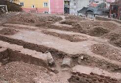 İnşaat kazısında tarihi kalıntılar bulundu