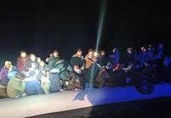 Didim açıklarında 30 göçmen yakalandı