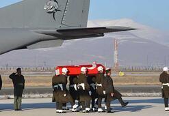 Şehit Kayanın cenazesi Erzurumda