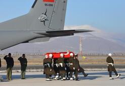 Şehit Kayanın cenazesi memleketi Erzurumda