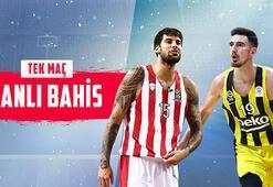 Olympiakos - Fenerbahçe Beko canlı bahis heyecanı Misli.comda