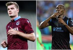 Trabzonsporun en istikrarlıları Sörloth ve Nwakaeme