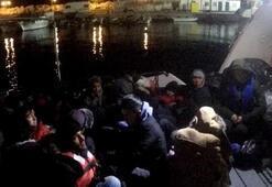 Çanakkalede 44kaçak göçmen yakalandı