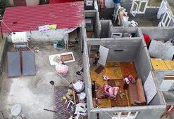 Hortumda evlerinin çatısı uçtu Kıyamet koptu zannettim