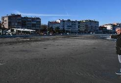 Büyük panik Tekirdağda deniz 30 metre çekildi