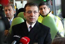 İmamoğlu, metrobüs aracı test sürüşüne katıldı