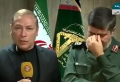 Komutan ve muhabir canlı yayında ağladı