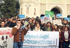Üniversitelilerden yemek protestosu