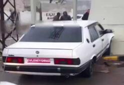 Çaldıkları aracı gelin arabası gibi süslediler polisten kaçamadılar