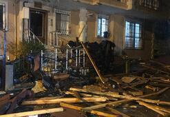 Son dakika | İstanbul fırtınaya teslim Çatı parçaları mutfağa girdi