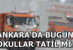 Ankara Valisi Vasip Şahinden kar tatili açıklaması Ankarada bugün okullar tatil mi