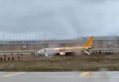 Son dakika... Sabiha Gökçen Havalimanında uçak pistten çıktı Havalimanı uçuşa kapatıldı