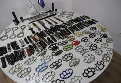 Şok görüntü 1 yılda 51 silah ve 769 kesici alet ele geçirildi