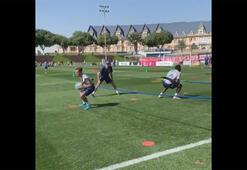 Coutinho ve Alabadan yüksek tempoda çalışma