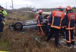 Otomobil takla attı; ehliyetsiz Eray canından oldu