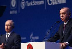 Son dakika... İstanbulda tarihi gün Açılışı Cumhurbaşkanı Erdoğan ve Putin yaptı