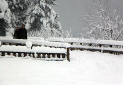 Abantta kar kalınlığı 1 metreyi aştı