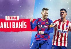 Barcelona-Atletico Madrid heyecanı canlı bahisle Misli.comda