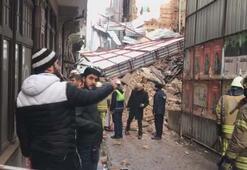 İstanbulda inşaat halindeki bina çöktü
