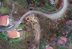 Zonguldakta 3 evin boşaltıldığı heyelan bölgesinde inceleme sürüyor