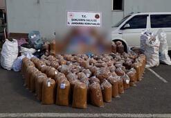 Şanlıurfada 1,4 ton kaçak tütüne 4 gözaltı