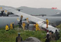 Kongoda askeri uçak havaalanına gövde üstü indi