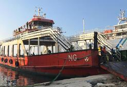 Çanakkale Boğazında balıkçı teknesi, feribota çarptı