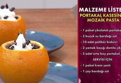 Portakal kasesinde mozaik pasta nasıl yapılır Portakal kasesinde mozaik pasta tarifi