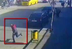 Otomobildeki çocuğun elinden cep telefonunu alıp, kaçtı