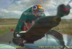 Karşı şeride girdi, motosikletle kafa kafaya çarpıştı