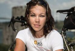 Guinness rekortmeni kadın bisikletçi Juliana Buhring İstanbulda